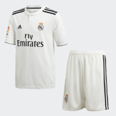 Mini kit Real Madrid Domicile Blanc Enfants Football