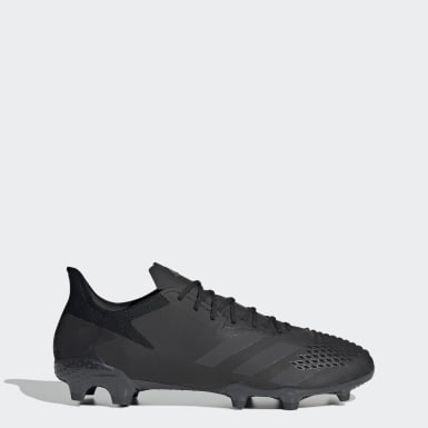 Men Soccer Black Predator 20.2 Firm Ground Cleats