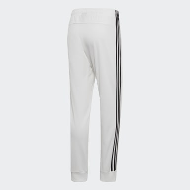 Men Essentials White Essentials 3-Stripes Tapered Tricot Pants