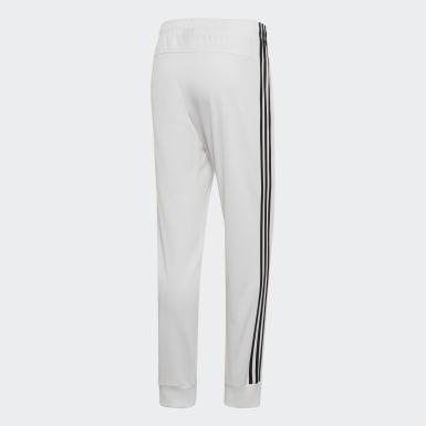 Pantalon Essentials 3-Stripes Tapered Tricot blanc Hommes Essentials