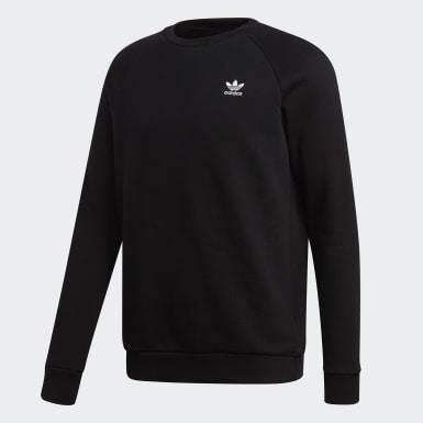 Heren Originals Zwart Trefoil Essentials Sweatshirt