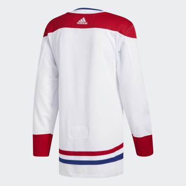 Men's Hockey White Canadiens Away Authentic Pro Jersey