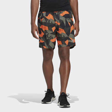 Heren Hardlopen Groen Run It Camouflage Short