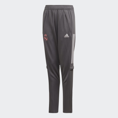 Kids Football Grey Real Madrid Training Tracksuit Bottoms