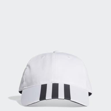 Lifestyle White 3-Stripes Baseball Cap
