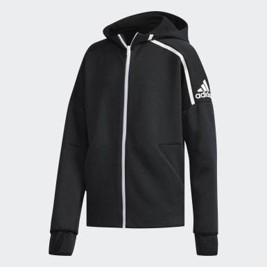 Chlapci Athletics čierna Mikina s kapucňou adidas Z.N.E. Fast Release