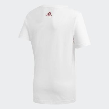 Jungen Fußball Spanien Graphic T-Shirt Weiß