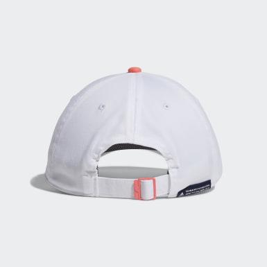 ผู้หญิง กอล์ฟ สีขาว หมวกแก๊ปผ้าทวิล