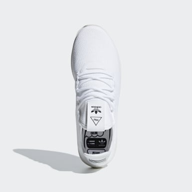 Chaussure Pharrell Williams Tennis Hu Blanc Femmes Originals