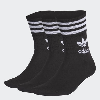 Originals Black Mid Cut Crew Socks 3 Pairs