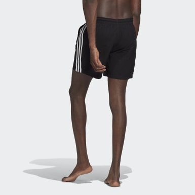 Men Originals Black Adicolor Classics 3-Stripes Swim Shorts