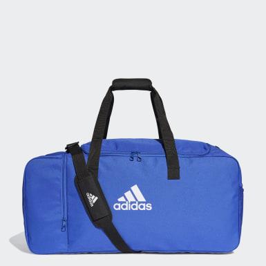 Fußball Tiro Duffelbag L Blau