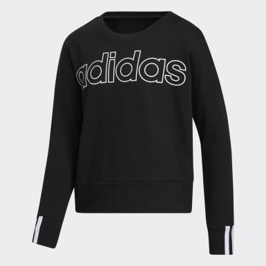 Youth Training Black 3-Stripes Pullover Sweatshirt