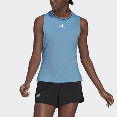 Women's Tennis Blue Tennis Match Tank Top