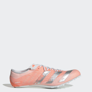 Sapatos de Bicos Adizero Prime Sprint Laranja Atletismo