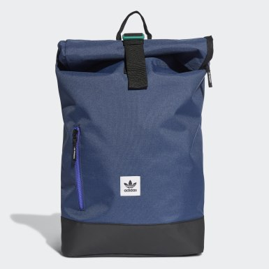Mochila Premium Essentials Roll-Top Azul Originals