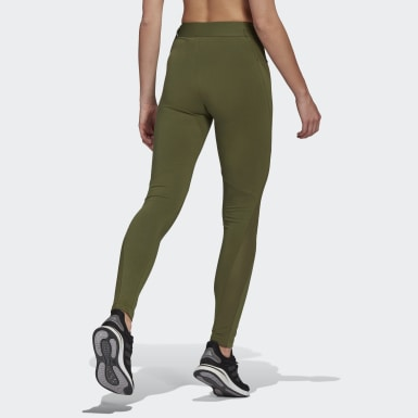 Women Athletics Green adidas Sportswear Cotton Leggings