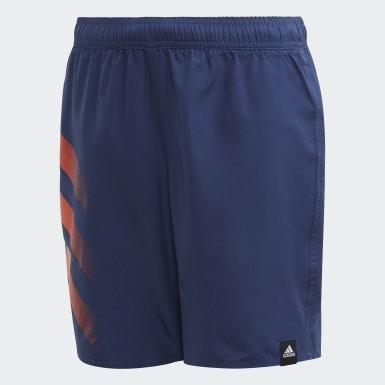 Short de bain Bold 3-Stripes Bleu Garçons Natation