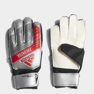 серебряный Вратарские перчатки Predator Top Fingersave