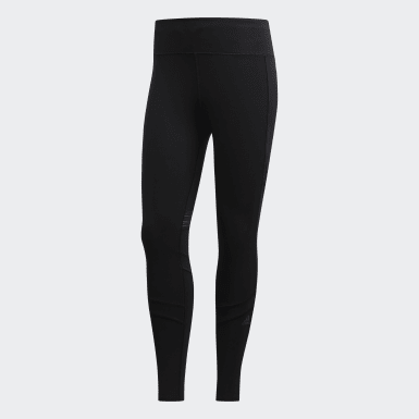 Mallas Largas How We Do - Corte Medio Negro Mujer Running