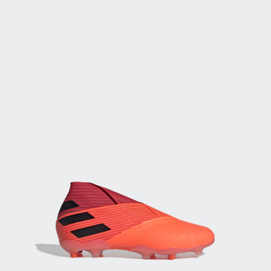 Kids 4-8 Years Football Orange Nemeziz 19+ Firm Ground Boots