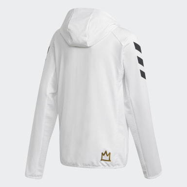 Chaqueta con capucha Salah Football-Inspired Blanco Niño Training