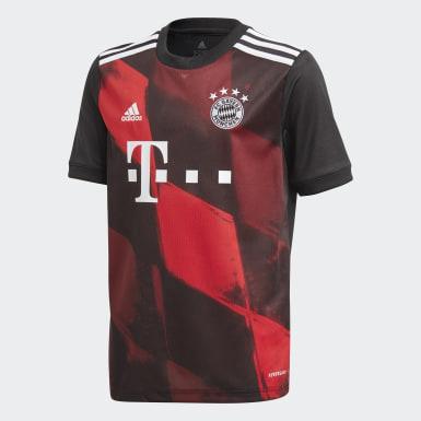 Kinderen Voetbal Zwart FC Bayern München 20/21 Derde Shirt