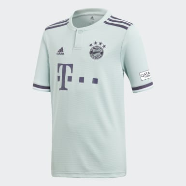 Maglia Away Replica FC Bayern München Turchese Bambini Calcio