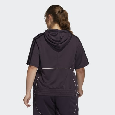 Women's Basketball Purple Cross Up City Lights Hoodie (Plus Size)