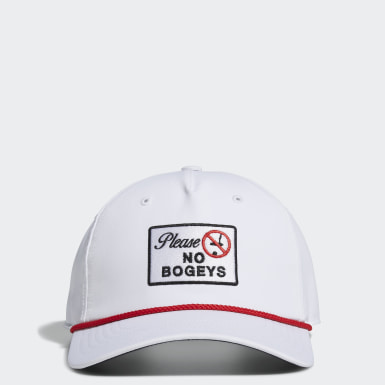 Men Golf White No Bogeys Snapback Hat