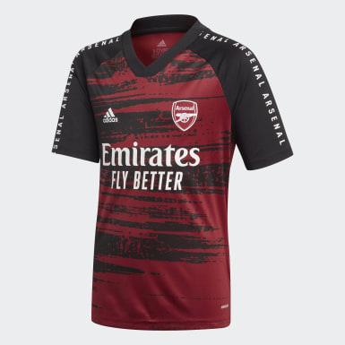Boys Fodbold Burgundy Arsenal opvarmningstrøje