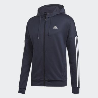 Tuta 3-Stripes Hooded Blu Uomo Athletics