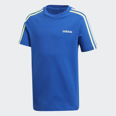 Camiseta Essentials 3-Stripes Azul Meninos Training