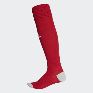 ฟุตบอล สีแดง ถุงเท้า Milano 16 Socks จำนวน 1 คู่