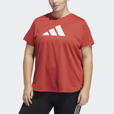 Badge of Sport Tee (Plus Size) Czerwony