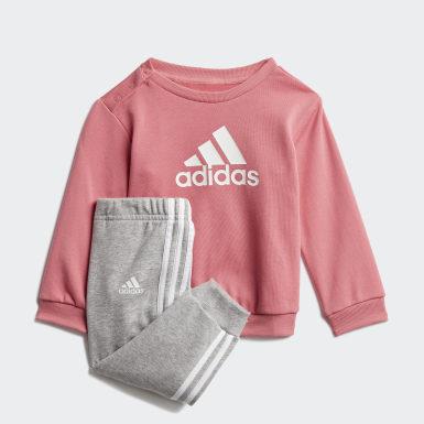 Kinderen Training roze Badge of Sport French Terry Joggingpak