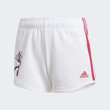 Kids Lifestyle White Gym Shorts