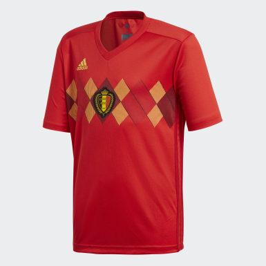 Camisola Principal da Bélgica Vermelho Criança Futebol