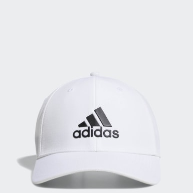 Men's Golf White A-Stretch adidas Badge of Sport Tour Hat