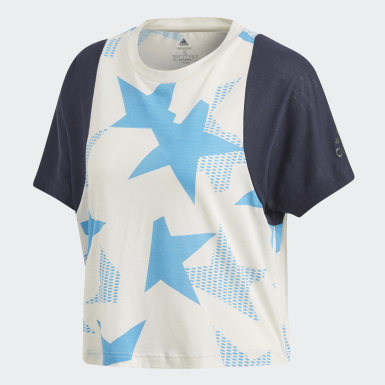 Camiseta cuello redondo ID Blanco Mujer Athletics