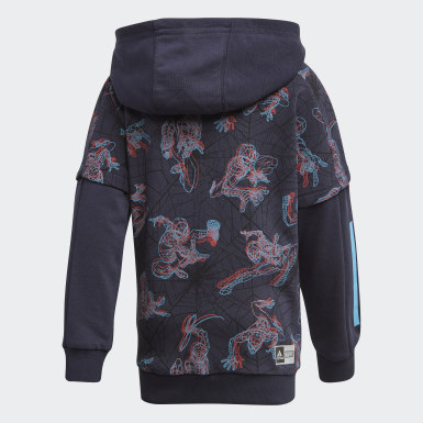 Children Training Blue Spider-Man Hoodie