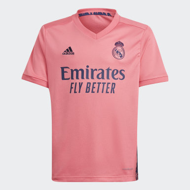 Barn Fotboll Rosa Real Madrid 20/21 Away Youth Kit