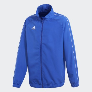 Kinder Training Core 18 Präsentationsjacke Blau