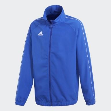 Børn Træning Blå Core 18 Presentation jakke