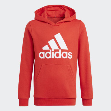 Boys Athletics Rød adidas Essentials hættetrøje