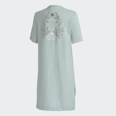 Camiseta Longa ID Turquesa Mulher Athletics