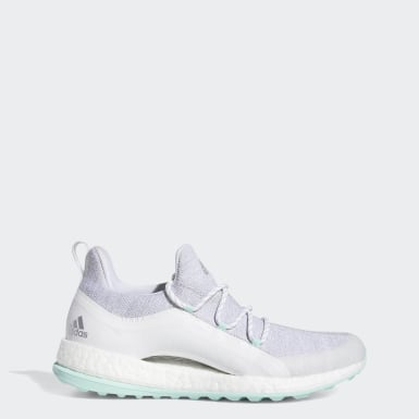Women's Golf White Pureboost Golf Shoes
