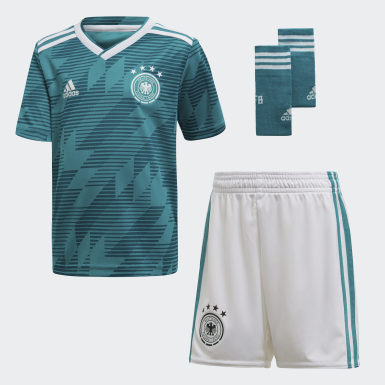 Kids Football Turquoise Germany Away Mini Kit