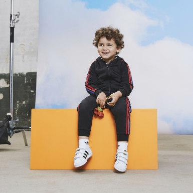 Jaqueta Adicolor 3D Trefoil (UNISSEX) Azul Kids Originals