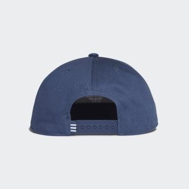 Boné Trefoil com Fecho de Pressão Azul Originals